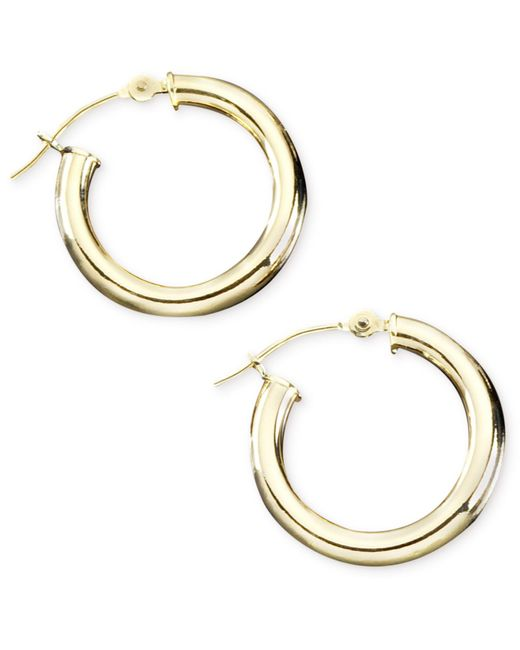 Macy's | Metallic 14k Gold Hoop Earrings | Lyst
