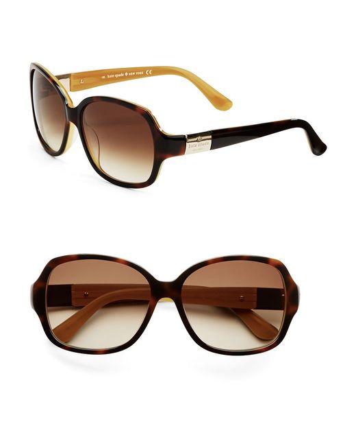 kate spade new york | Brown Carmel Sunglasses | Lyst