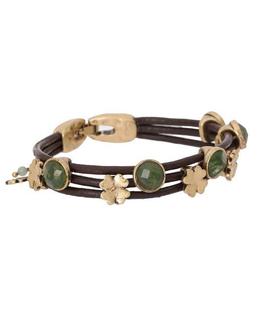 Lucky Brand | Metallic Stone Woven Bracelet | Lyst