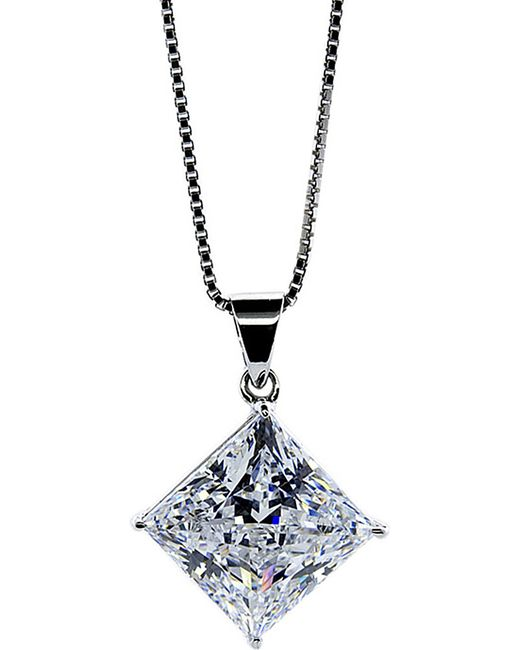 Carat* | Metallic Princess 1.25ct Pendant Necklace | Lyst