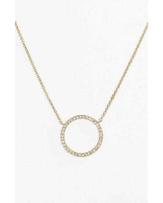 Nadri | Metallic Circle Pendant Necklace | Lyst
