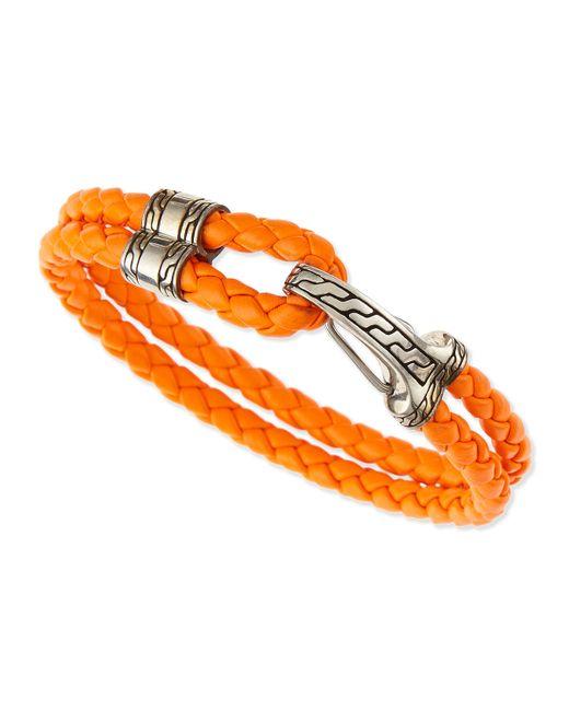 John Hardy | Orange Classic Chain Men's Hook-station Bracelet for Men | Lyst