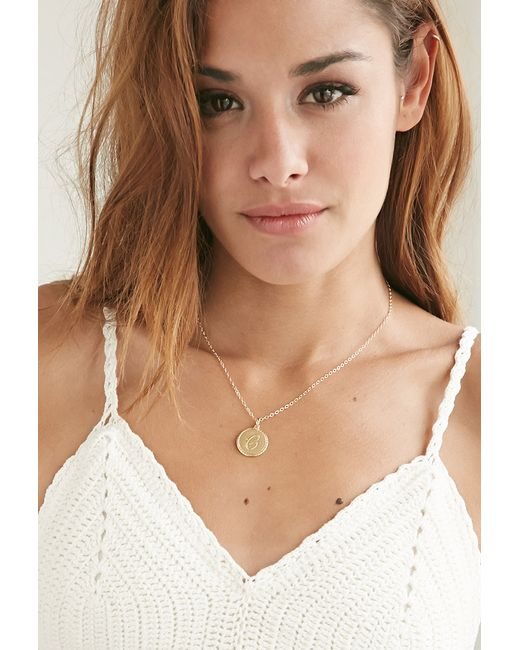 Forever 21 | Metallic Moon And Lola Small Dalton L Necklace | Lyst