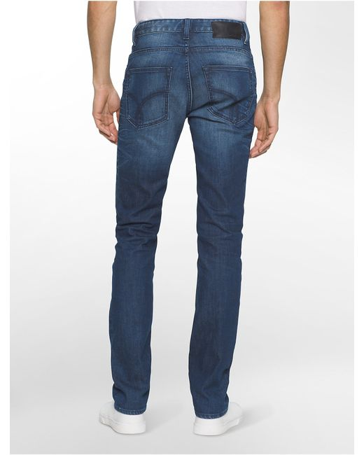 calvin klein jeans slim straight leg salford wash jeans in. Black Bedroom Furniture Sets. Home Design Ideas