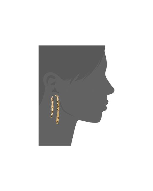 Oscar de la Renta | Metallic Dangling Earrings | Lyst