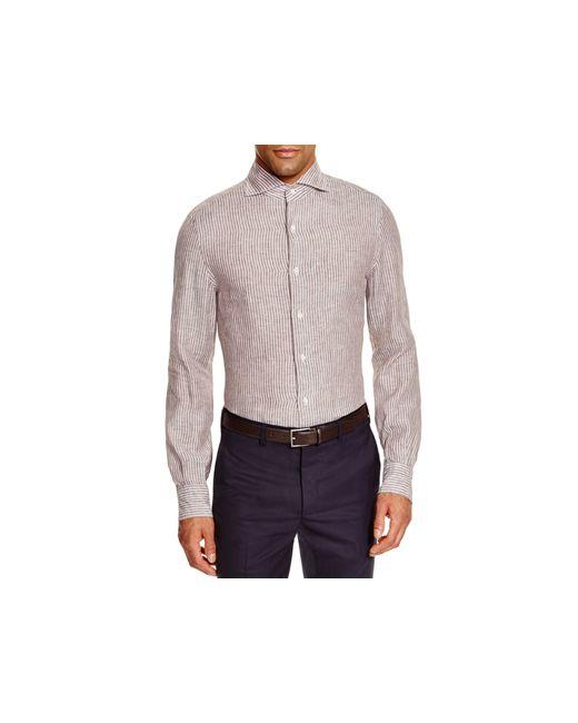 Eidos university stripe slim fit button down shirt 100 for College button down shirts