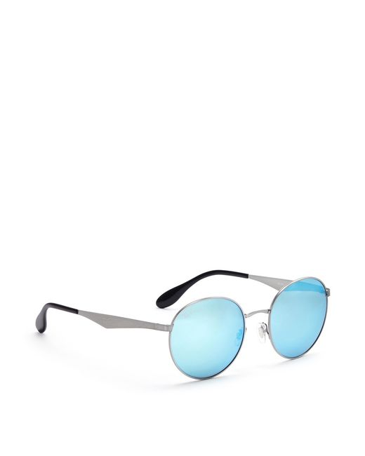 Ray Ban Round Metal Blue Frame Silver Lens Paint « Heritage Malta