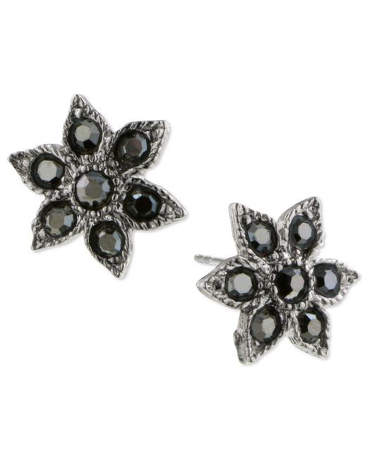 2028 | Metallic Silver-tone Hematite Star Post Earrings | Lyst
