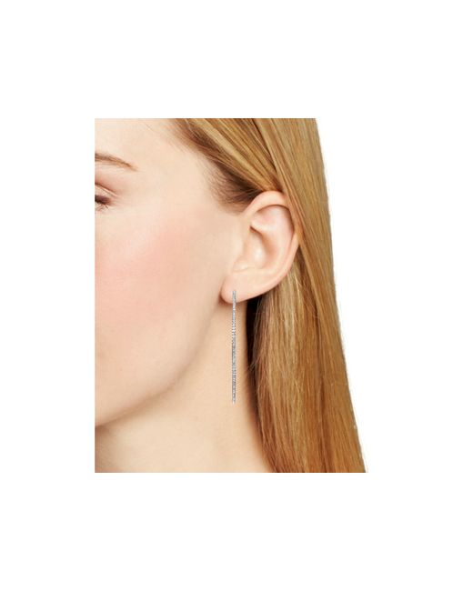 Nadri | Metallic Pave Hoop Earrings | Lyst