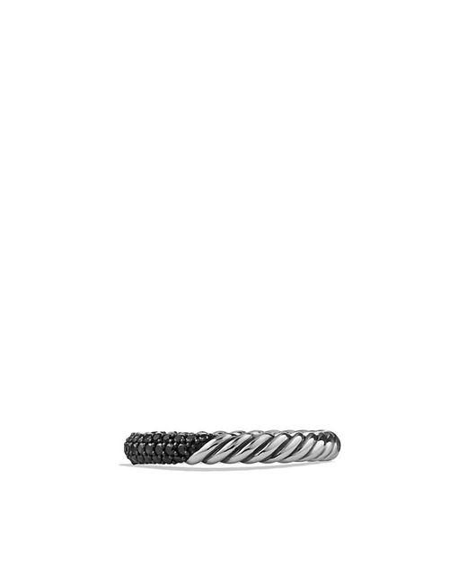 David Yurman | Petite Pavé Ring With Black Diamonds | Lyst