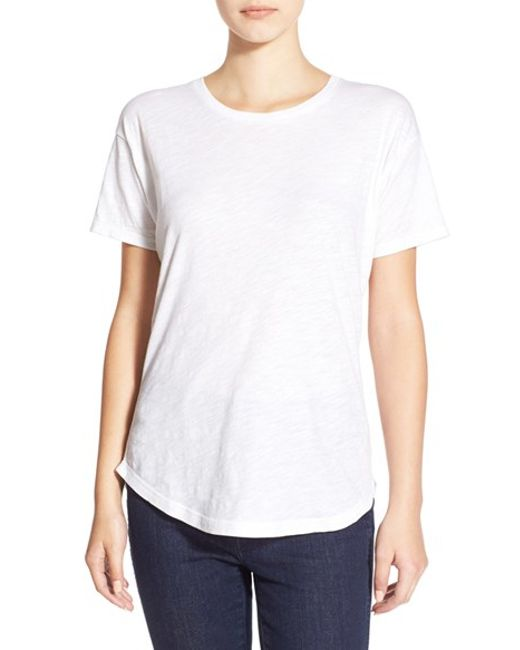 Madewell | White 'whisper' Cotton Crewneck Tee | Lyst