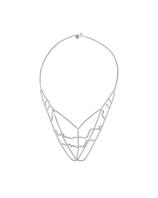 MM6 by Maison Martin Margiela | Metallic Spiderman Necklace | Lyst