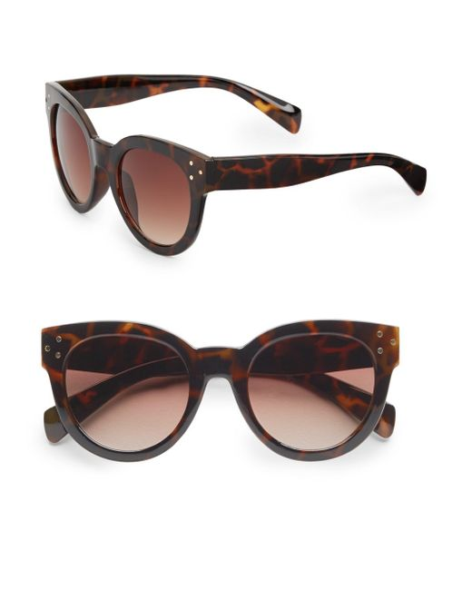 Fantaseyes | Brown Langham 50mm Cat's-eye Sunglasses | Lyst