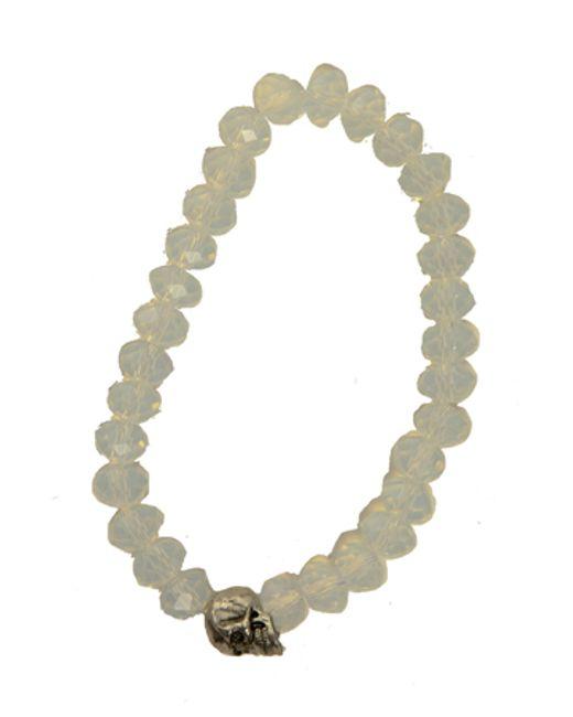 Duchess Of Malfi | Natural Moonstone And Skull Bracelet | Lyst