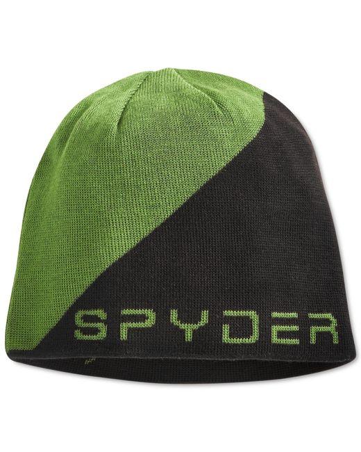 Spyder | Green Logo Jacquard Beanie for Men | Lyst