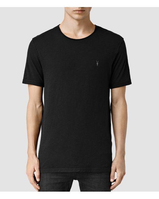 AllSaints | Black Henning Crew T-shirt for Men | Lyst