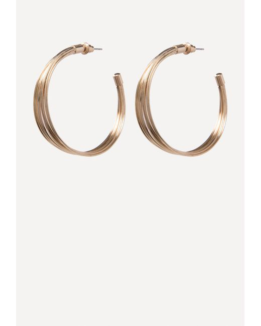 Bebe - Multicolor Multi-wire Hoop Earrings - Lyst