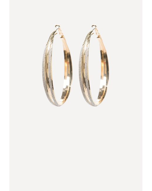 Bebe - Metallic Stardust Hoop Earrings - Lyst