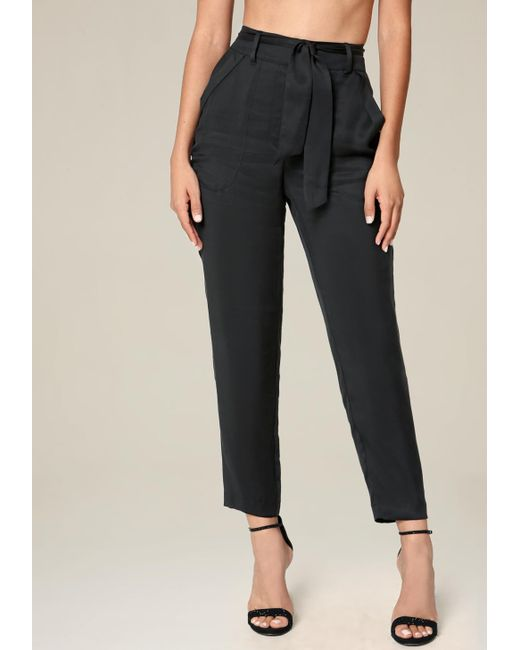 Bebe   Black Petite Cargo Pocket Pants   Lyst