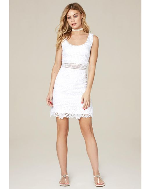 Bebe | White Molly Lace Dress | Lyst