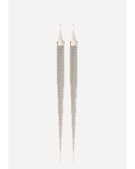 Bebe | Metallic Fringe Duster Earrings | Lyst