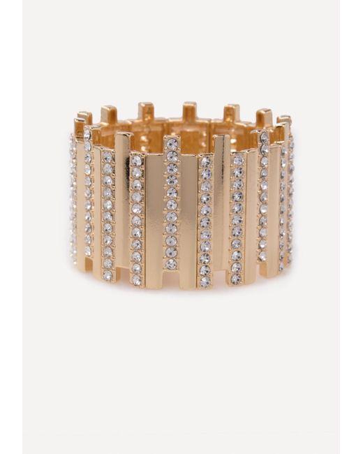 Bebe | Multicolor Crystal Stretch Cuff | Lyst