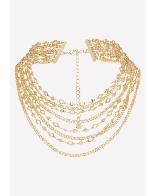 Bebe - Metallic Multi-chain Necklace - Lyst