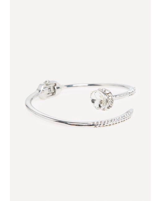 Bebe - Metallic Silvertone Hinge Bracelet - Lyst