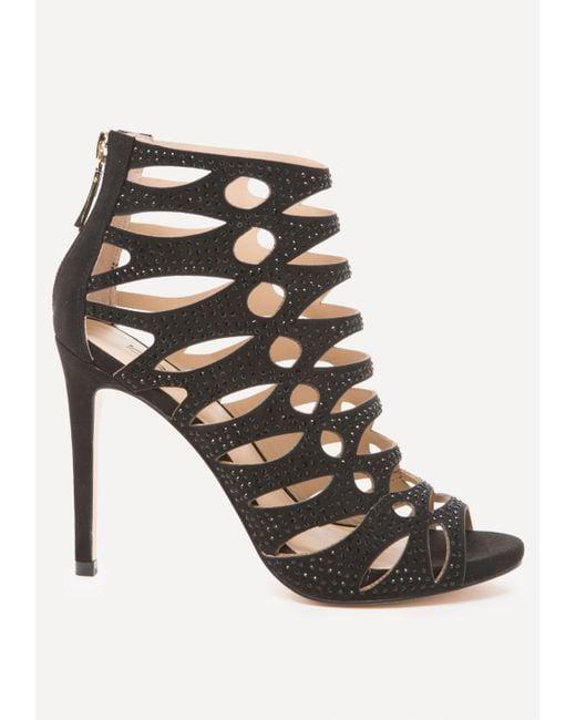 Bebe - Black Natashaa Studded Sandals - Lyst