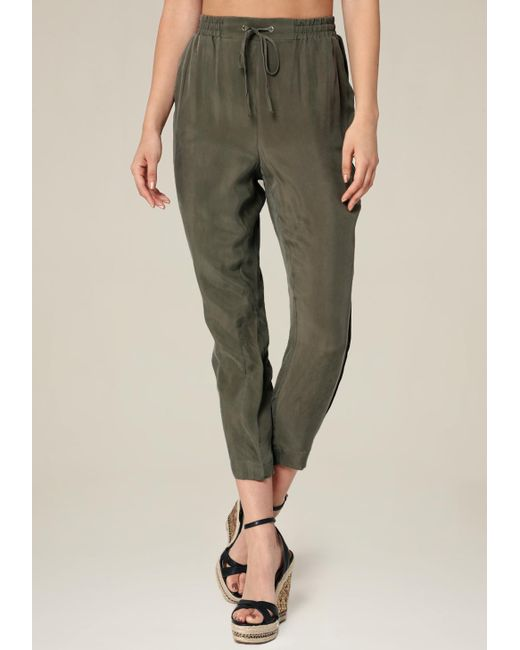 Bebe | Green Cupro Jogger Pants | Lyst