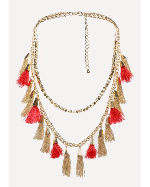Bebe | Multicolor Tassel Long Necklace | Lyst