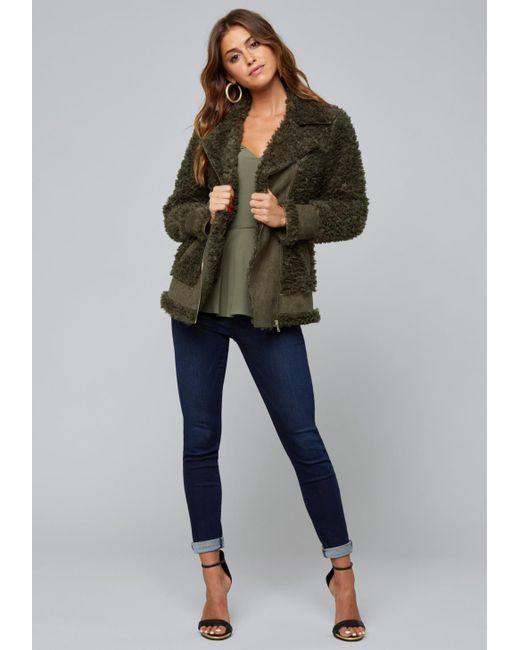 Bebe - Multicolor Faux Shearling Jacket - Lyst