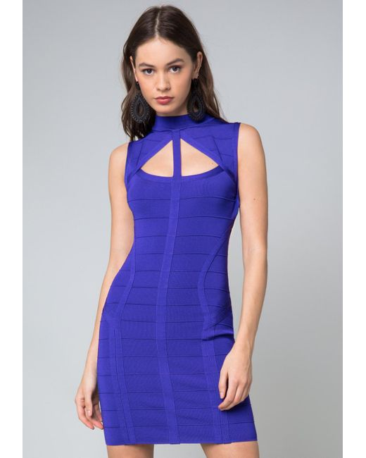 Bebe | Blue Saundra Bandage Dress | Lyst