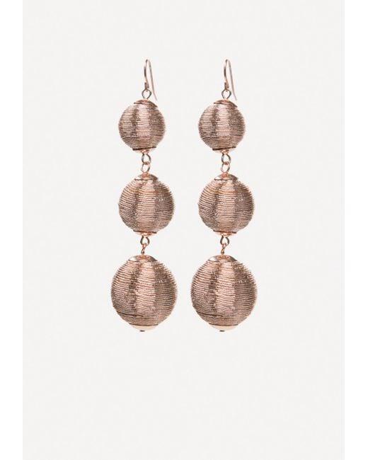 Bebe   Multicolor Metallic Thread Earrings   Lyst