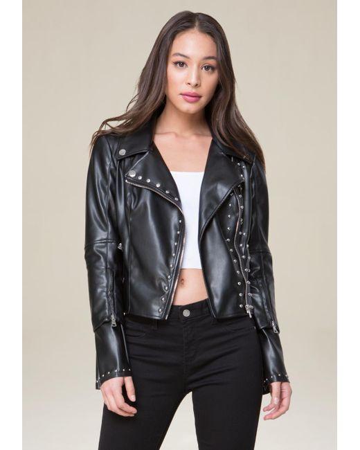 Bebe | Black Zip Sleeve Jacket | Lyst