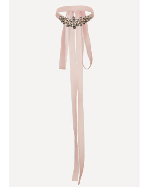 Bebe | Pink Embellished Wrap Choker | Lyst