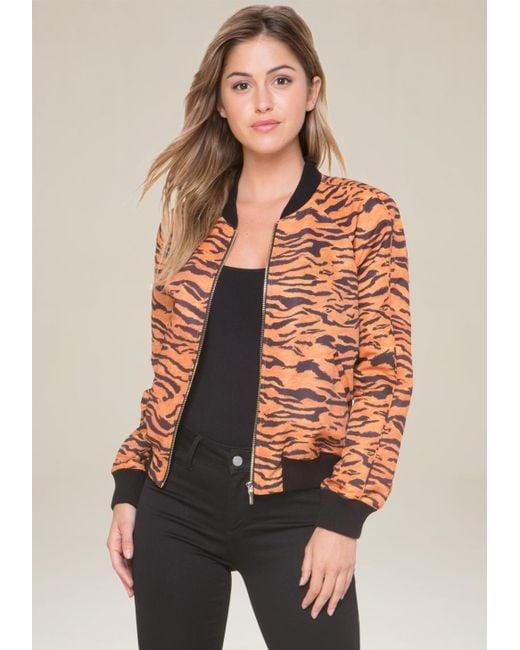 Bebe | Multicolor Logo Tiger Bomber Jacket | Lyst