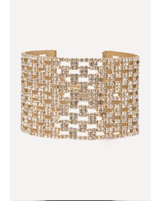 Bebe - Multicolor Crystal Mesh Bracelet - Lyst