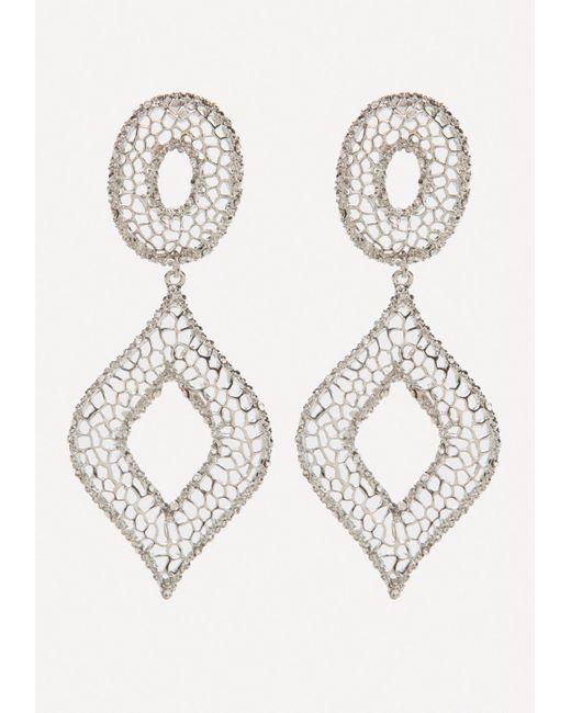 Bebe - Metallic Filigree Statement Earrings - Lyst