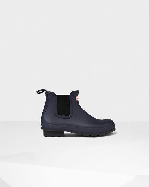 Hunter   Black Men's Original Dark Sole Chelsea Boots for Men   Lyst