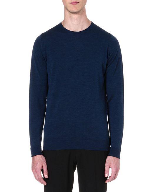 John Smedley | Blue 'ashmount' Sweater for Men | Lyst