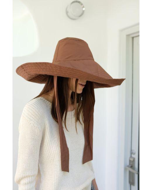 Beklina - Voluminoso Tie Hat Brown - Lyst