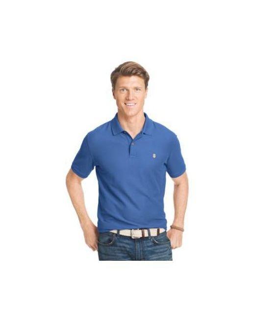 50d0dcad Izod - Blue Short Sleeve Solid Stretch Advantage Pique Polo Shirt for Men -  Lyst