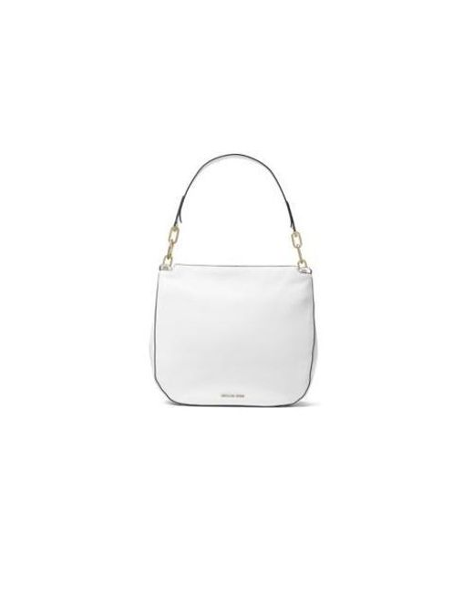 09876e45a50 Lyst - Michael Michael Kors Fulton Large Hobo Bag in White
