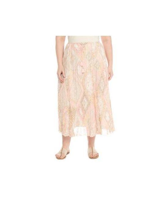 535ed1e1ea4 Ruby Rd - Multicolor Plus Size Le Jardin Print Broomstick Skirt - Lyst