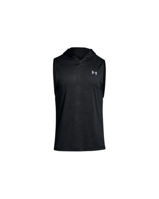 ddcac09adbee6f Lyst - Under Armour Tech Sleeveless Hoodie in Black