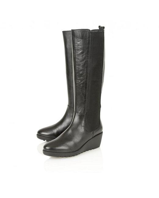... Lotus - Black Bridger Knee High Boots - Lyst ...