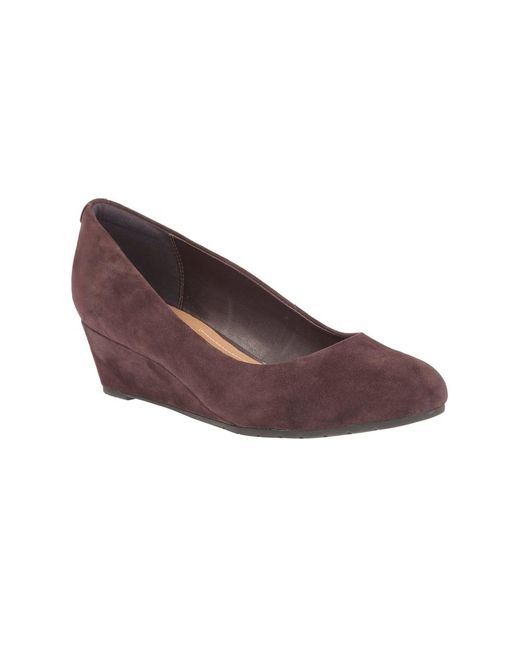 Aubergine Suede Shoes Clarks