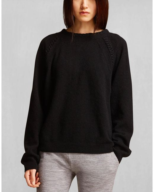 Belstaff | Wen Sweater In Black Luxury Cashmere Blend | Lyst