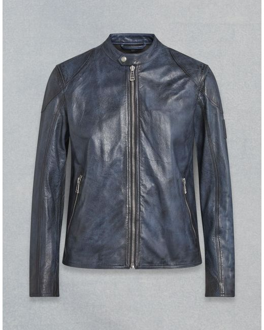 26c100b2255 Belstaff - Blue Bandit Café Racer Jacket for Men - Lyst ...